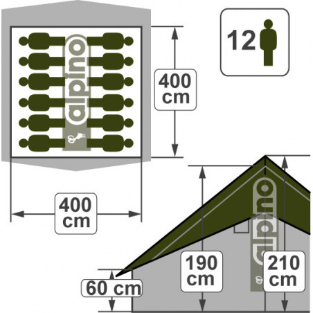 Patrouille Europ - 4 x 4 m